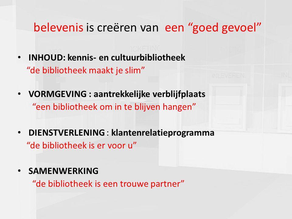 """presentatie commissie cultuur 16-03-20108 belevenis is creëren van een """"goed gevoel"""" INHOUD: kennis- en cultuurbibliotheek """"de bibliotheek maakt je sl"""