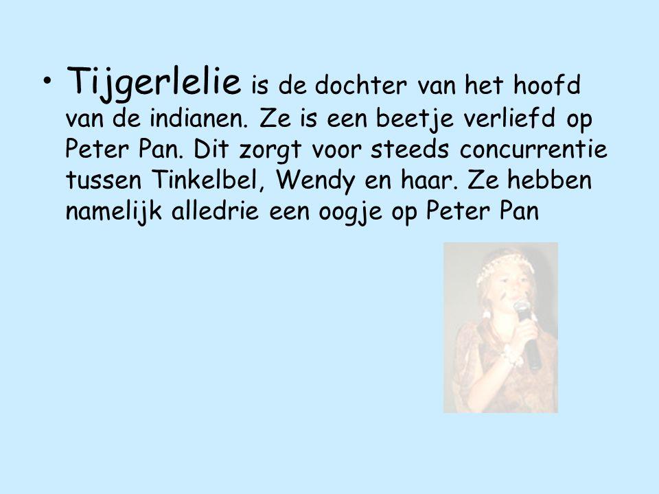 Tijgerlelie is de dochter van het hoofd van de indianen.