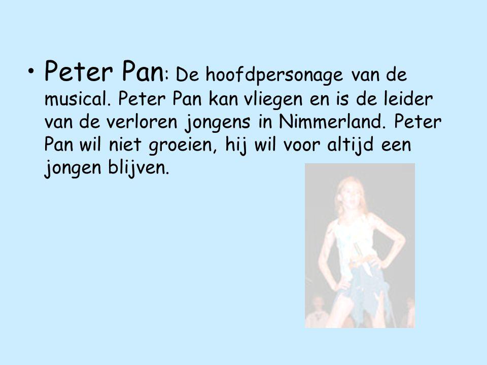 Peter Pan : De hoofdpersonage van de musical.