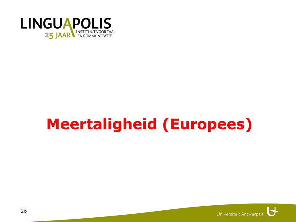 26 Meertaligheid (Europees)