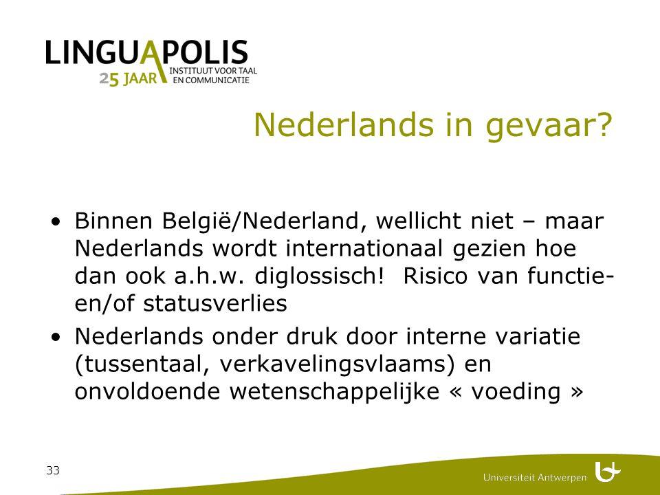 33 Nederlands in gevaar.