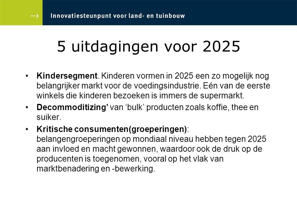 5 uitdagingen voor 2025 Kindersegment. Kinderen vormen in 2025 een zo mogelijk nog belangrijker markt voor de voedingsindustrie. Eén van de eerste win
