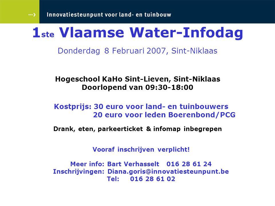 Hogeschool KaHo Sint-Lieven, Sint-Niklaas Doorlopend van 09:30-18:00 Kostprijs: 30 euro voor land- en tuinbouwers 20 euro voor leden Boerenbond/PCG Dr
