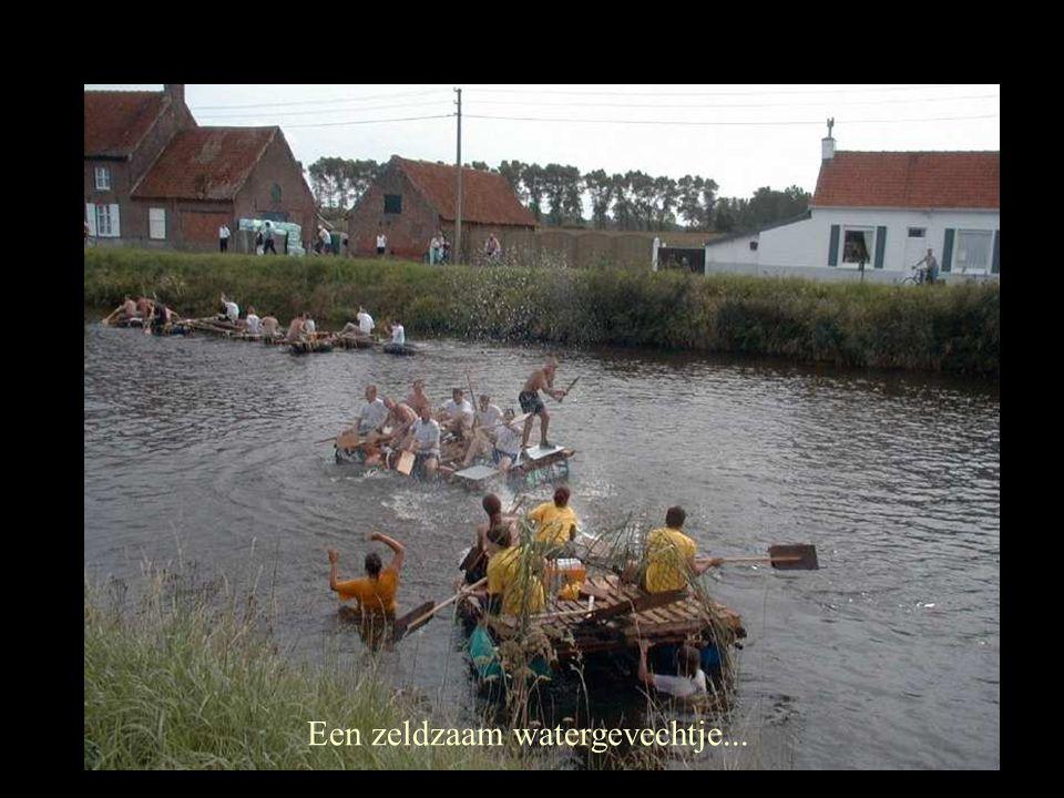 Een zeldzaam watergevechtje...