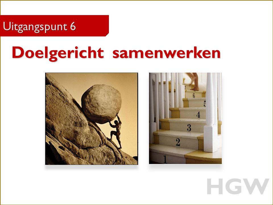 30 Robert Marzoan Uitgangspunt 6 Doelgericht samenwerken HGW