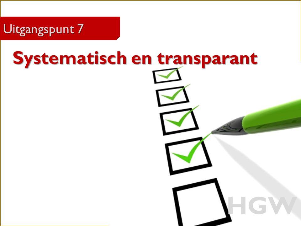 33 Robert Marzoan Uitgangspunt 7 HGW Systematisch en transparant