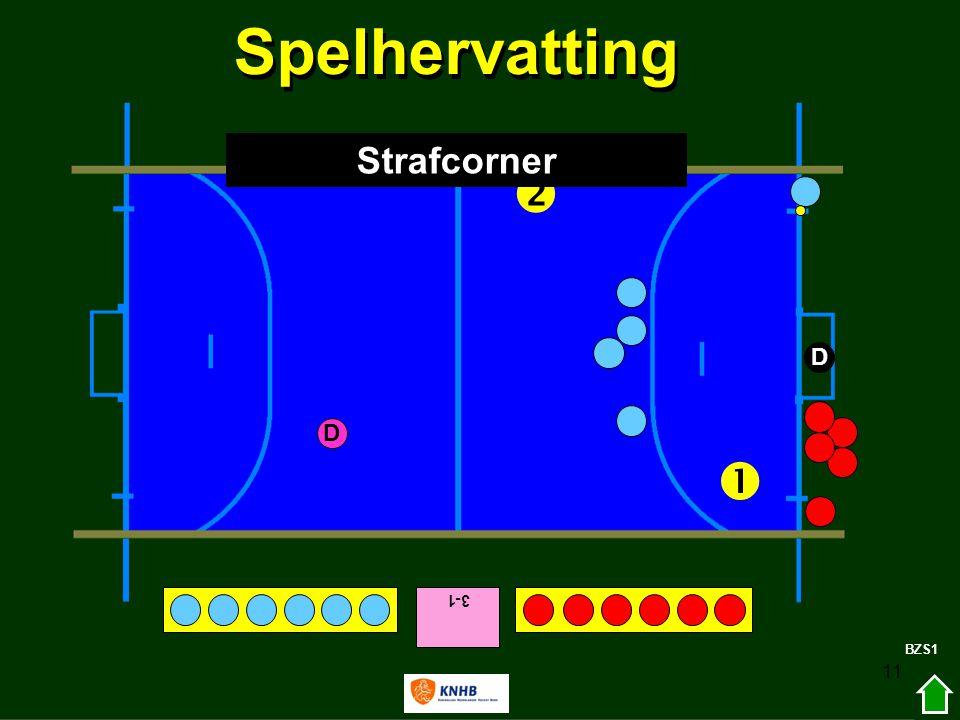 11 3-1   D D BZS1 Spelhervatting Strafcorner