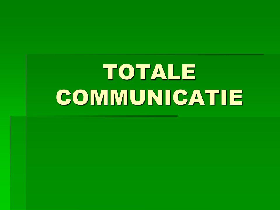 Definitie TC:  Het tegelijkertijd en meer bewust gebruik maken van alle uitingsvormen van communicatie TC kan worden gezien als een basishouding in de omgang met mensen met een verstandelijke beperking.