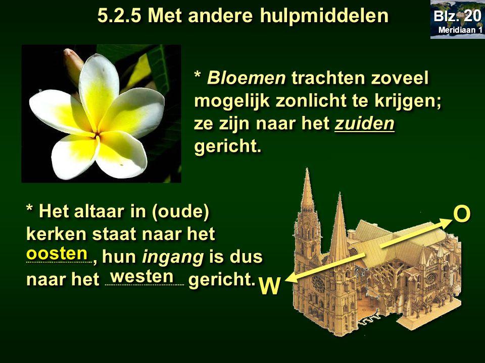 * Het altaar in (oude) kerken staat naar het ………………..…………….., hun ingang is dus naar het ……………………………………..
