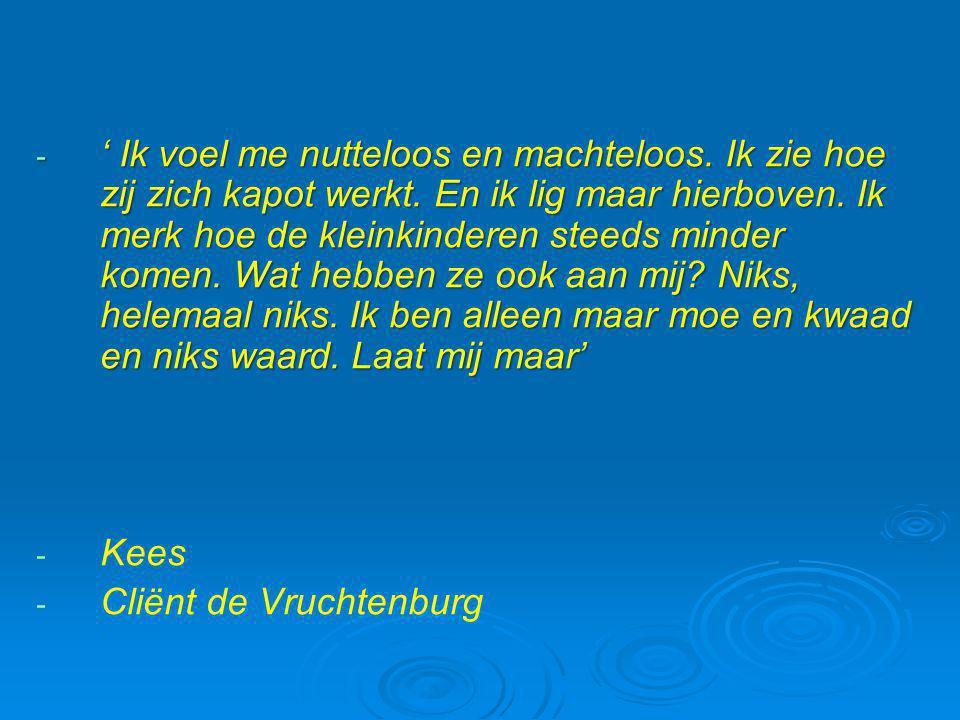 Aanbevelingen  Let op de kinderen van ouders met kanker  Screening aanbevolen (hoe??)  Bevorder een open communicatie in het gezin  Lotgenotencontact en therapie is helpend (in een groep of via internet www.kankerspoken.nl)