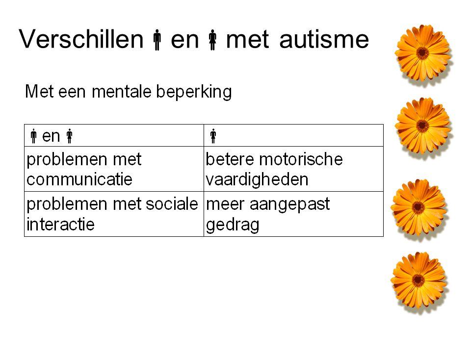 Verschillen  en  met autisme