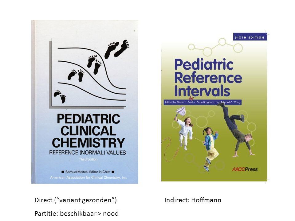 Direct ( variant gezonden ) Partitie: beschikbaar > nood Indirect: Hoffmann