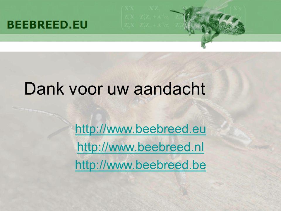 Dank voor uw aandacht http://www.beebreed.eu http://www.beebreed.nl http://www.beebreed.be