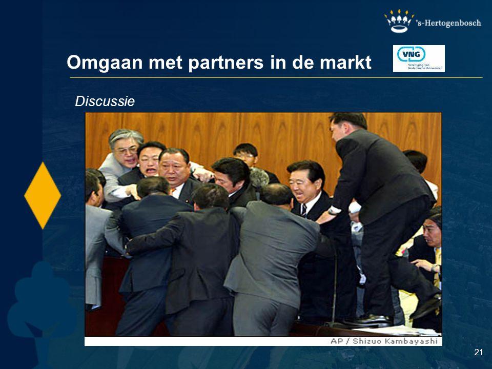 21 Omgaan met partners in de markt Discussie