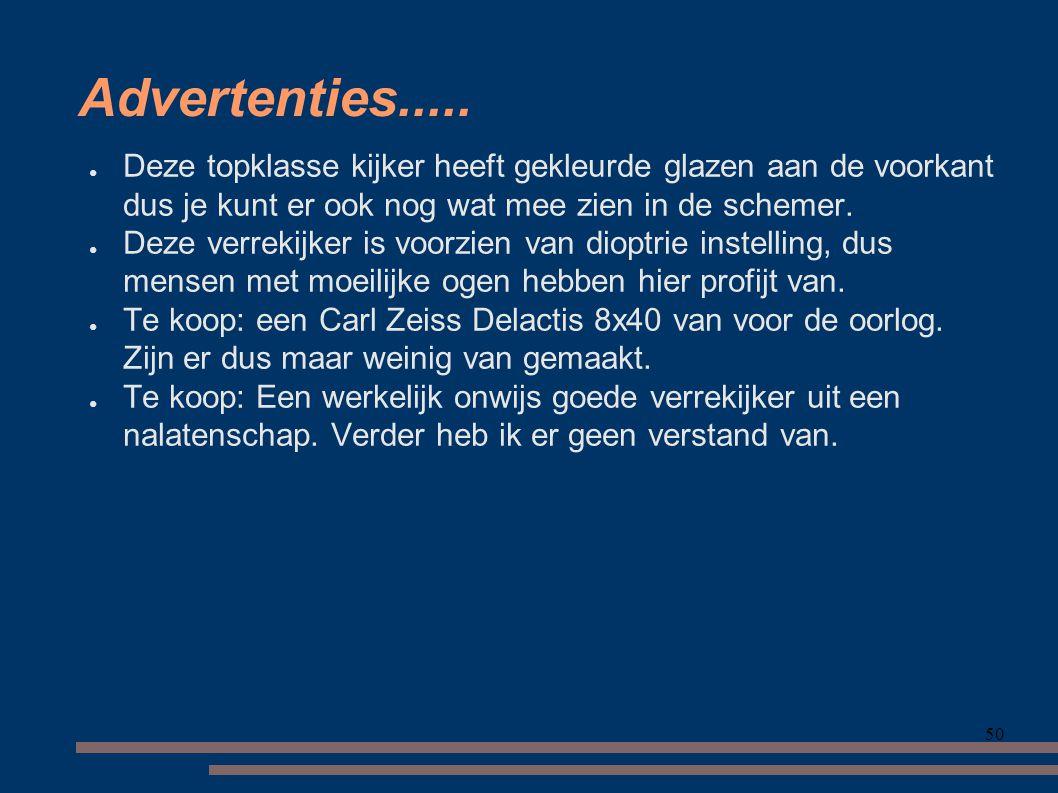 50 Advertenties.....