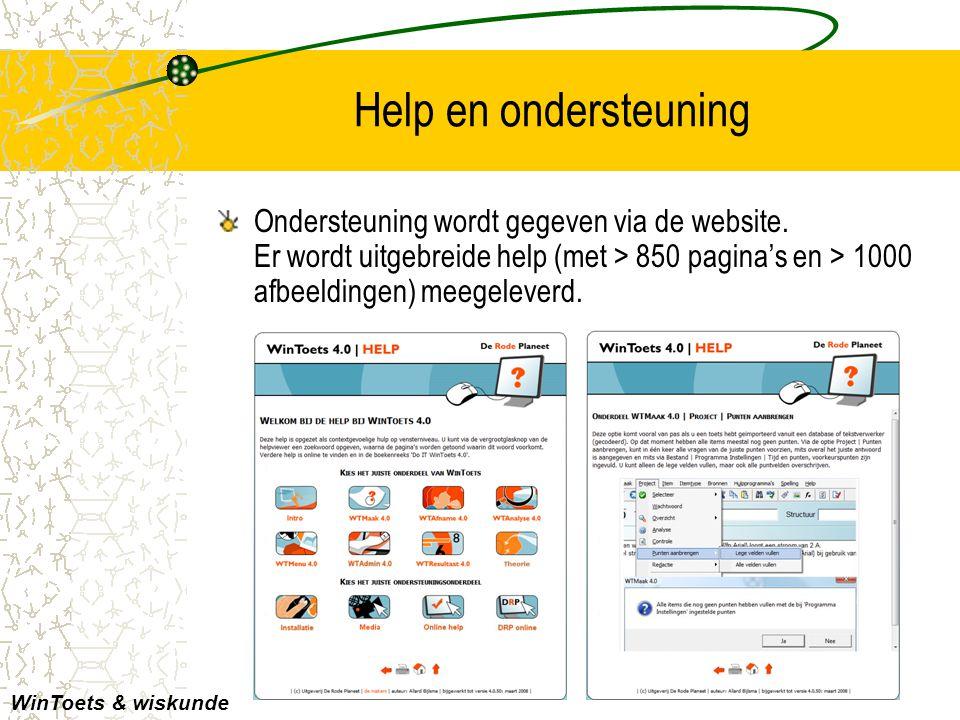 Help en ondersteuning Ondersteuning wordt gegeven via de website. Er wordt uitgebreide help (met > 850 pagina's en > 1000 afbeeldingen) meegeleverd. W