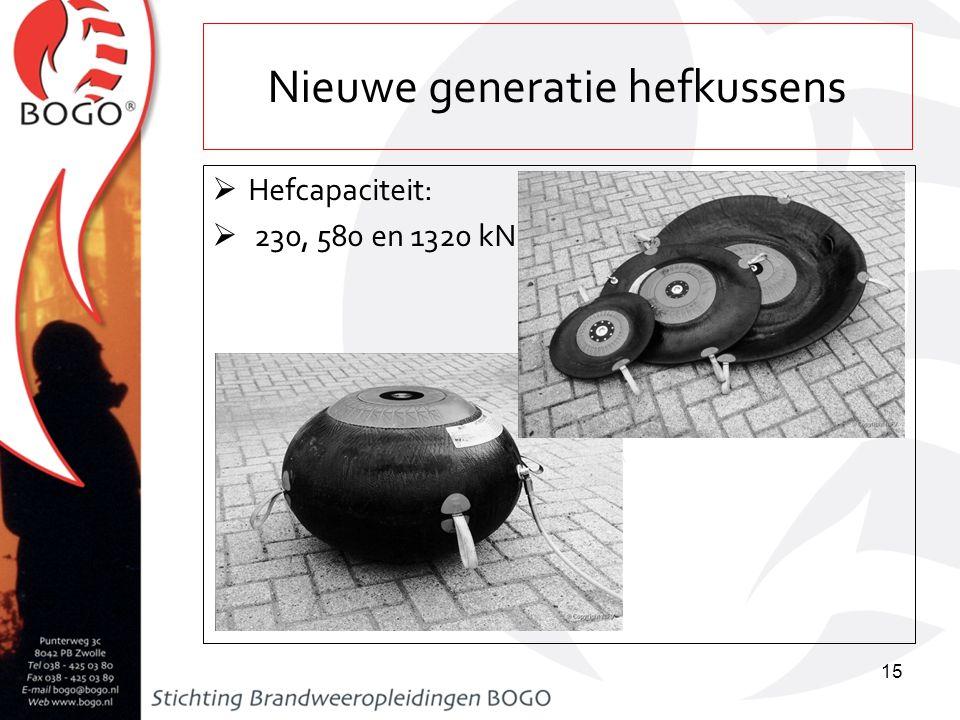 Nieuwe generatie hefkussens  Hefcapaciteit:  230, 580 en 1320 kN 15