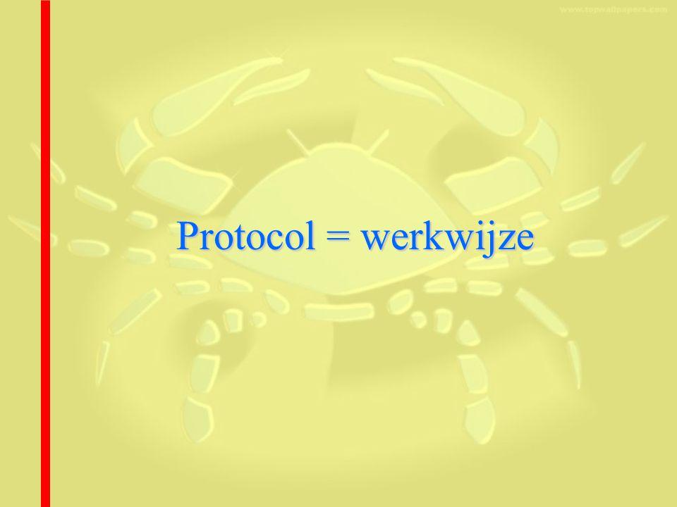 Protocol = werkwijze