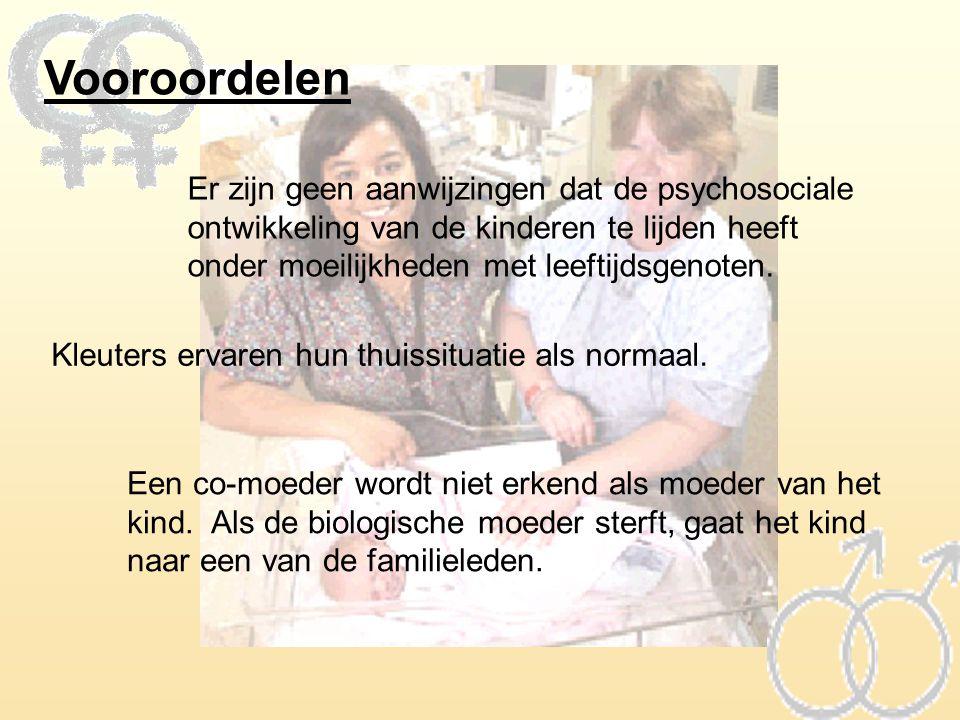 Vooroordelen Er zijn geen aanwijzingen dat de psychosociale ontwikkeling van de kinderen te lijden heeft onder moeilijkheden met leeftijdsgenoten. Kle