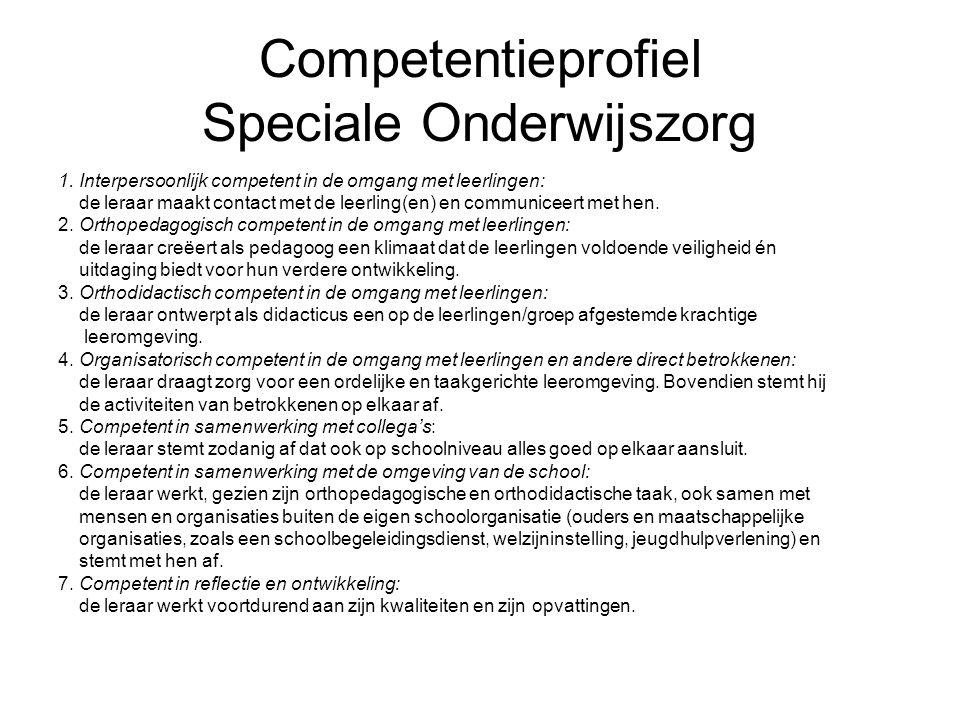 Competentieprofiel Speciale Onderwijszorg 1.