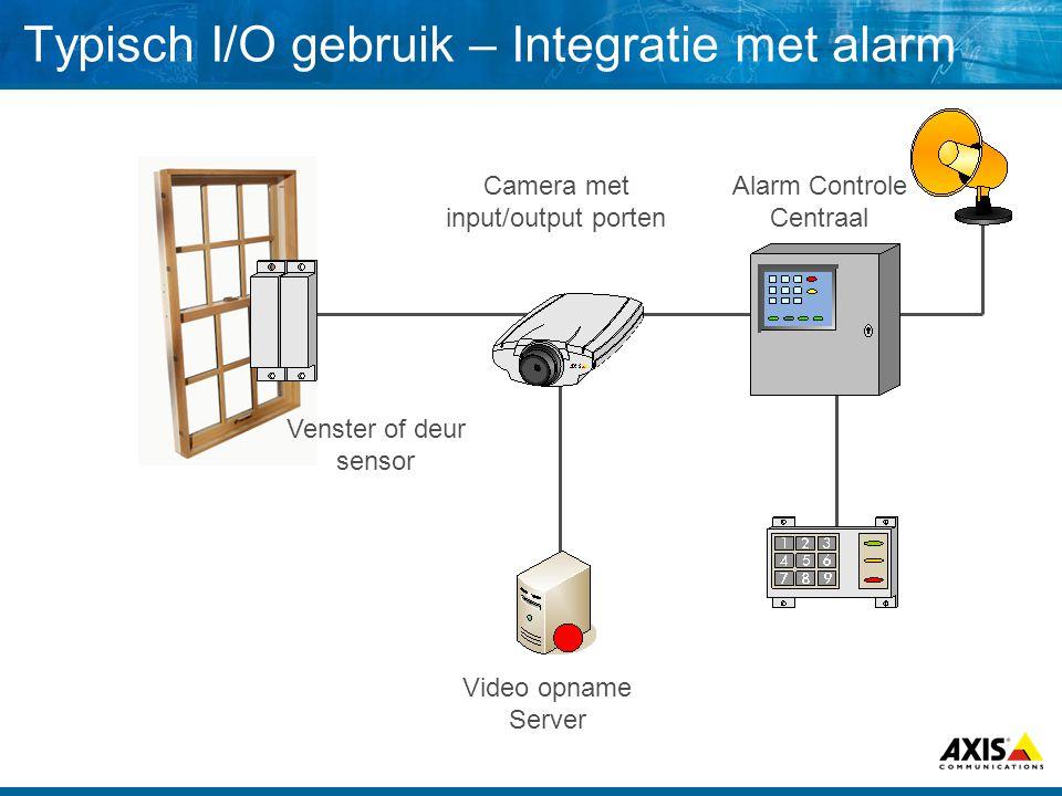 De I/O port op een Axis 211 Netwerk Camera PinFunctieBeschrijving 1.Ground (-) Common ground of the camera 2.Aux.