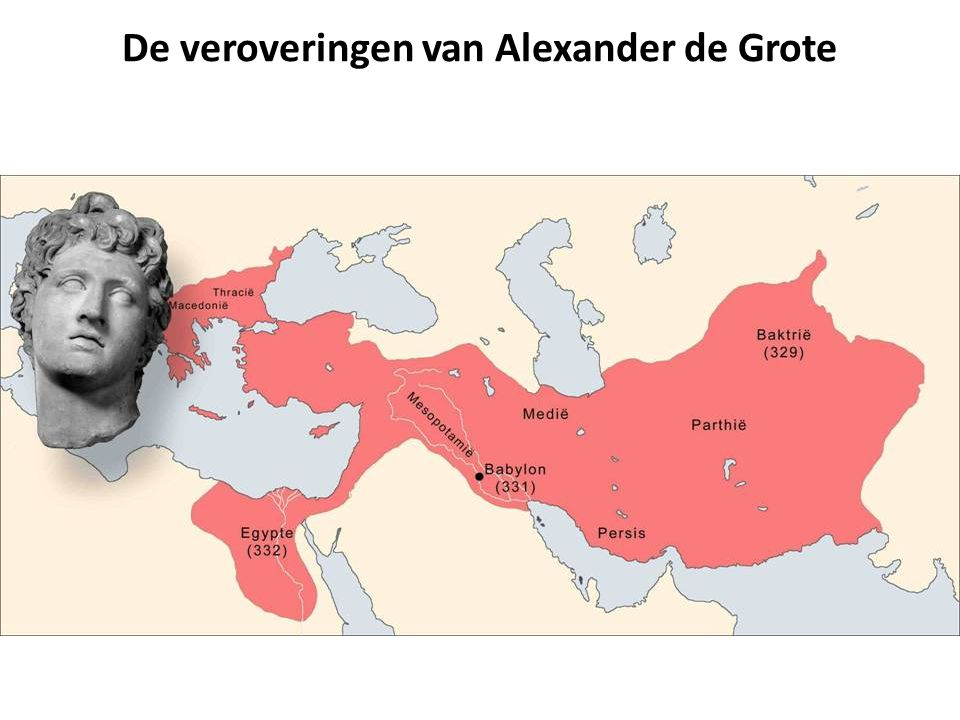 De veroveringen van Alexander de Grote