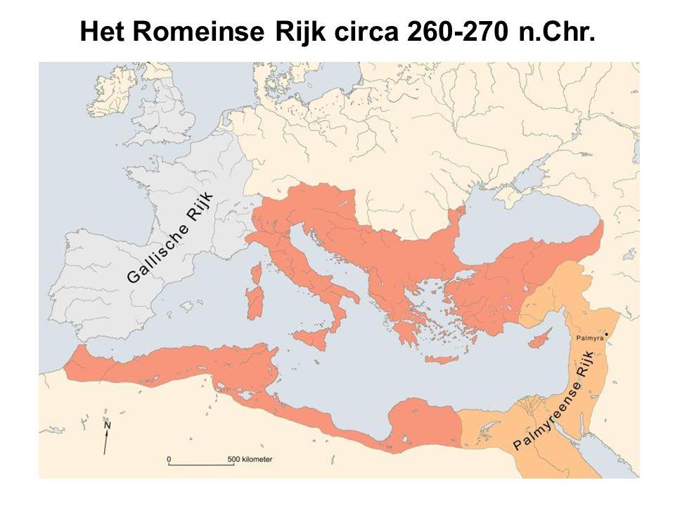 Domitianus II (271 n.Chr.) Antoninianus, biljoen Voorzijde: buste Domitianus II naar rechts IMP C DOMITIANVS P F AVG Keerzijde: Concordia staand links met patera en cornucopiae CONCORDIA MILITVM uit muntschat, Groot-Britannië, 2003 uit muntschat, Frankrijk 1900