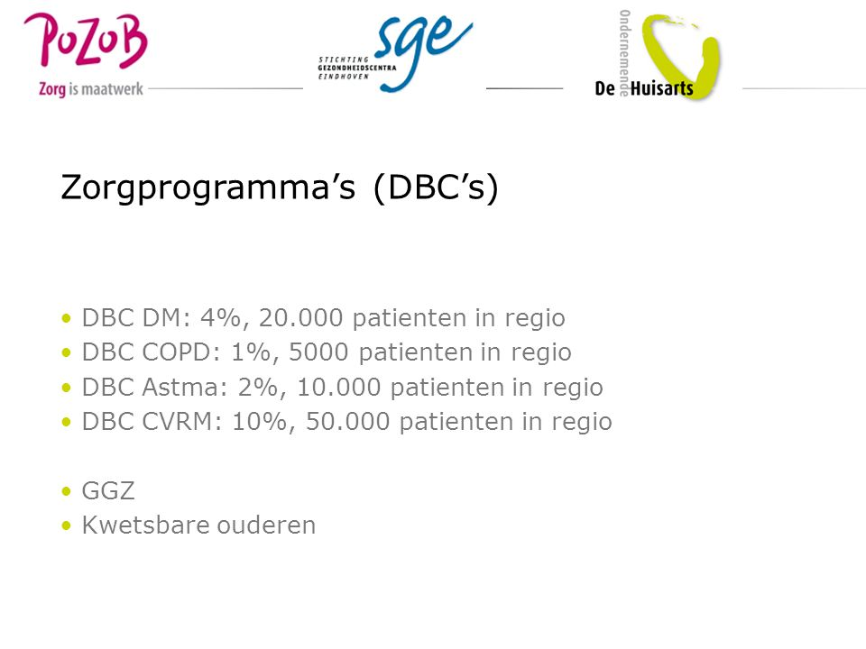 DBC ketenzorg Ketenzorg diabetes Diagnost.