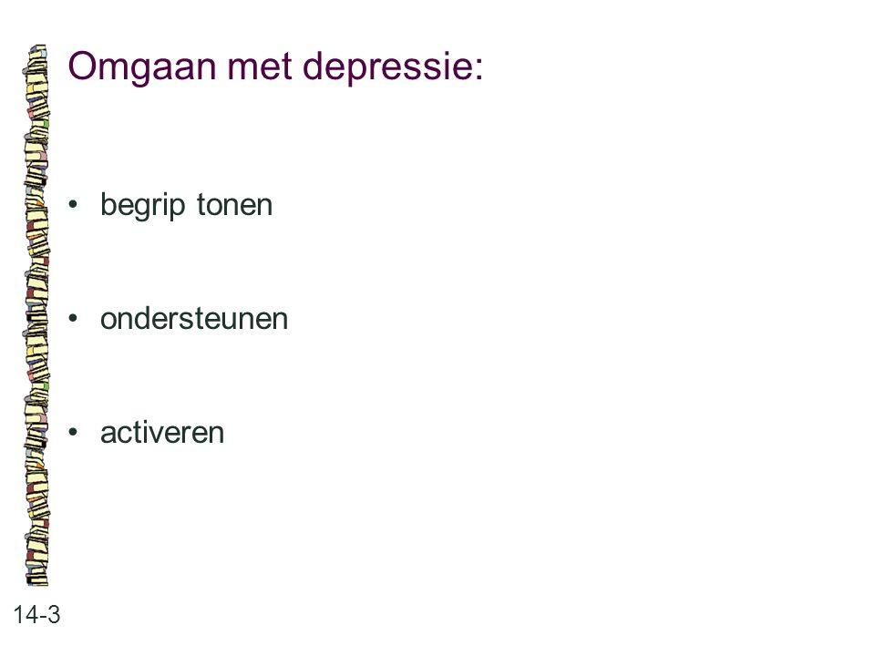 Omgaan met depressie: 14-3 begrip tonen ondersteunen activeren