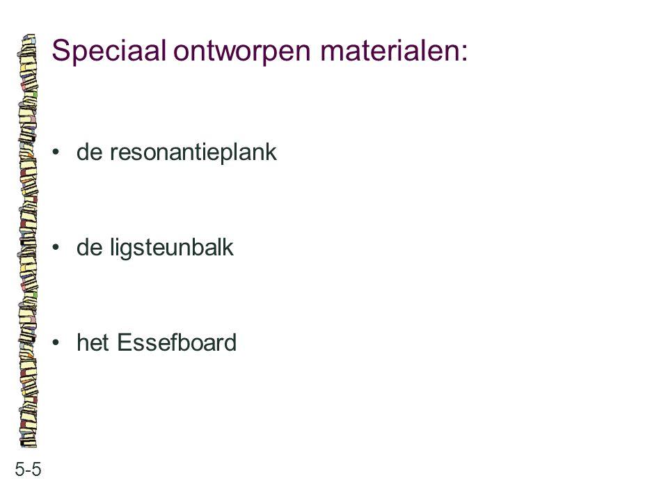 Speciaal ontworpen materialen: 5-5 de resonantieplank de ligsteunbalk het Essefboard
