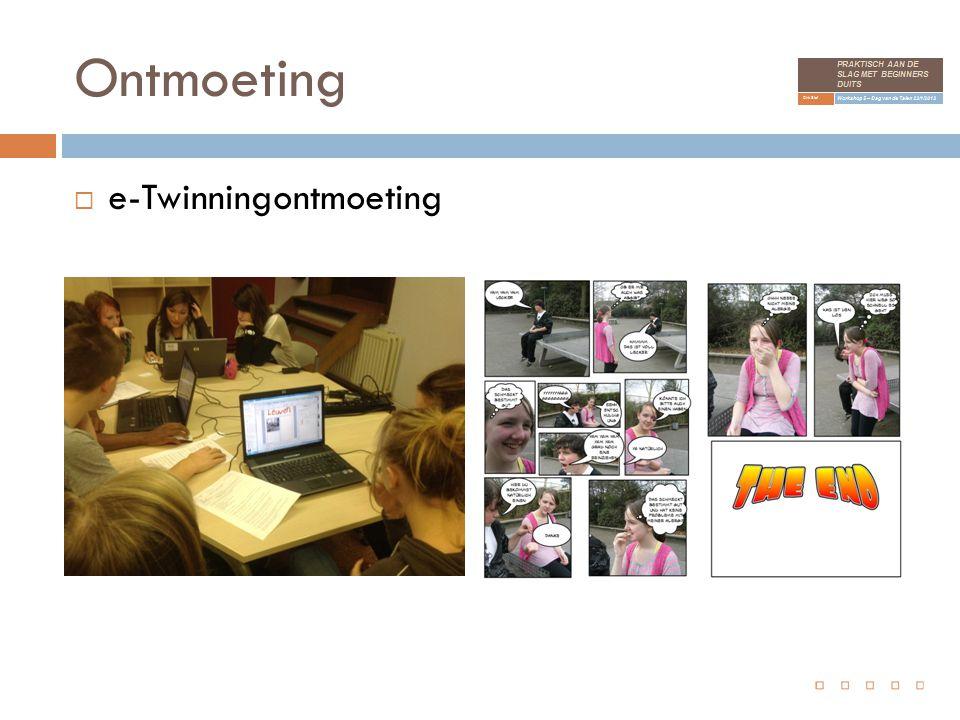 Ontmoeting  e-Twinningontmoeting