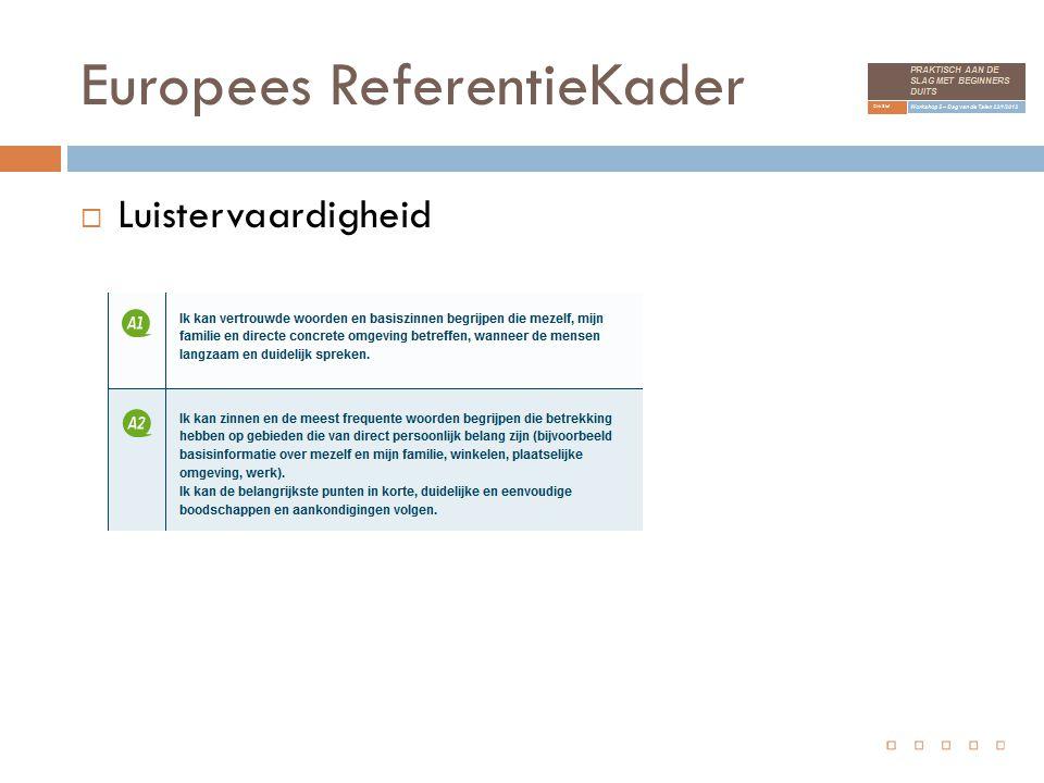 Europees ReferentieKader  Luistervaardigheid