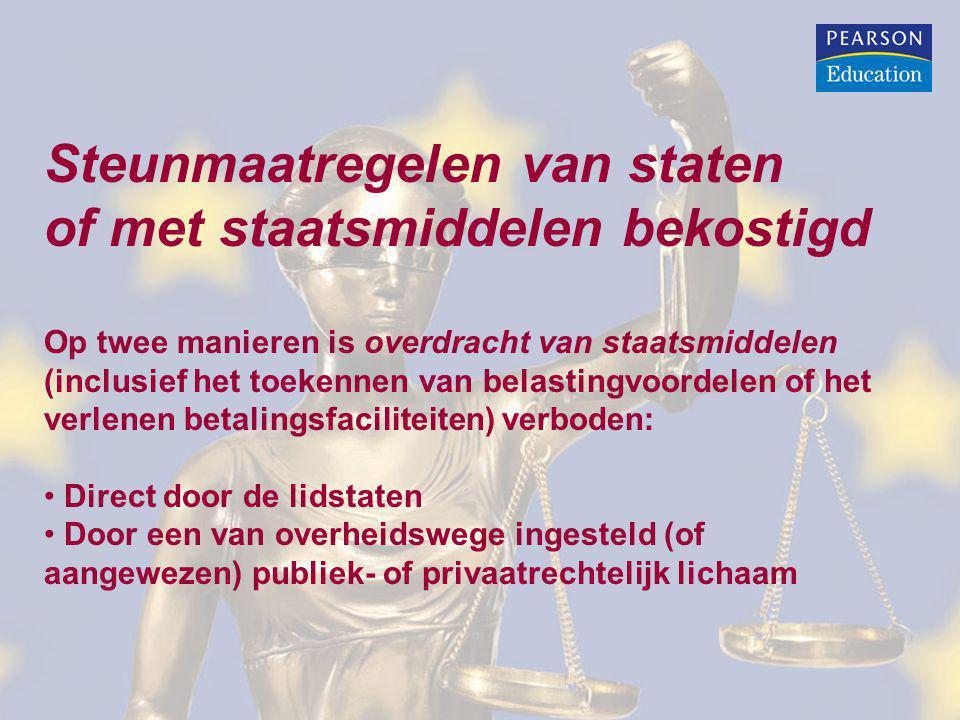 Procedure betreffende onrechtmatige steun: Onrechtmatige steun is steun die tot uitvoering wordt gebracht, zonder de stand-still verplichting te respecteren.