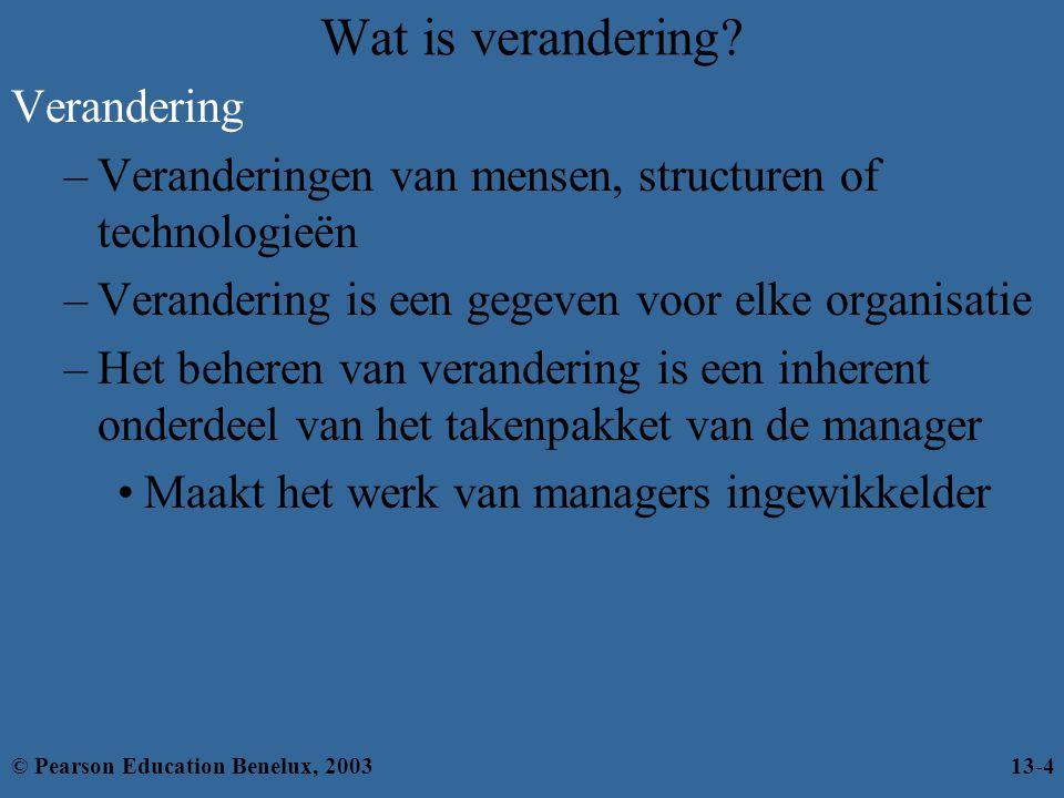 Symptomen van stress Symptomen van stress Fysiek Psychologisch Gedragsmatig © Pearson Education Benelux, 200313-25