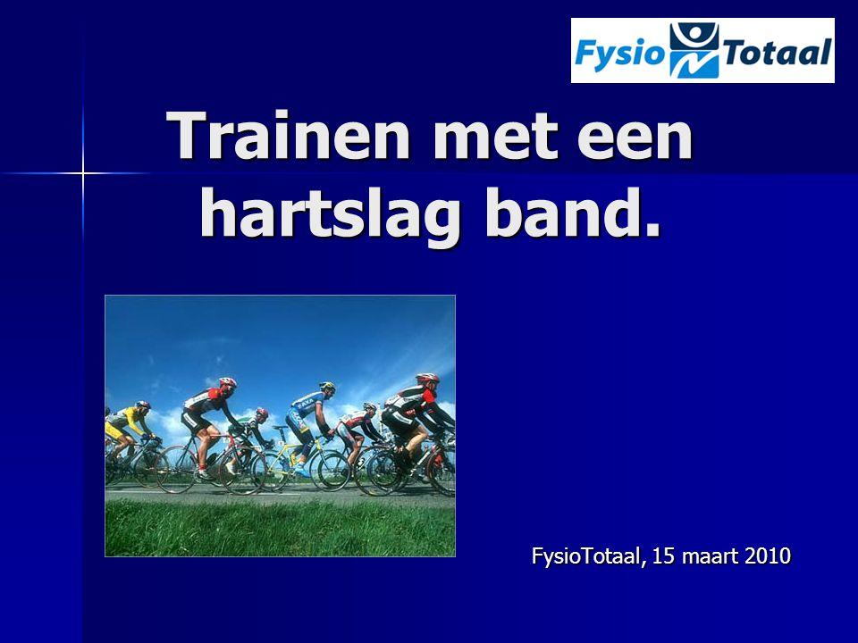 Trainen met een hartslag band. FysioTotaal, 15 maart 2010