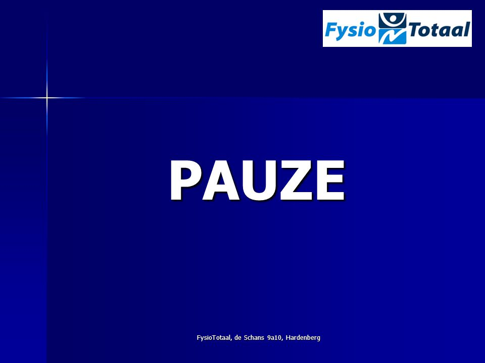 FysioTotaal, de Schans 9a10, Hardenberg PAUZE