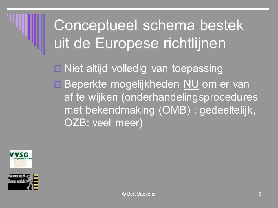 © Bert Baeyens27 Uitvoeren (gedeeltelijk) voorbehouden  Uitvoering voorbehouden in het kader van programma's voor beschermde arbeid Sociale economie eventueel onderaannemer