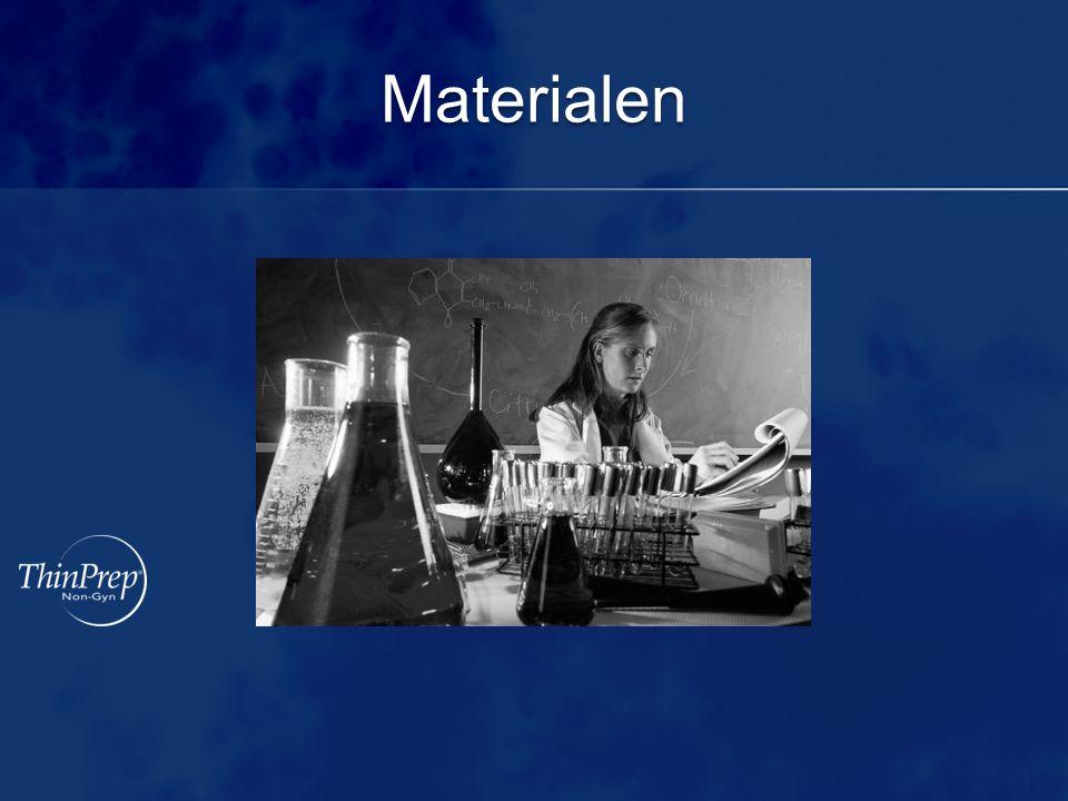 Benodigde materialen ThinPrep ® 2000-Processor ThinPrep ® -objectglaasjes Non-Gyn filters (blauw) Vortexmixer met rekken CytoLyt ® - en PreservCyt ® -oplossing