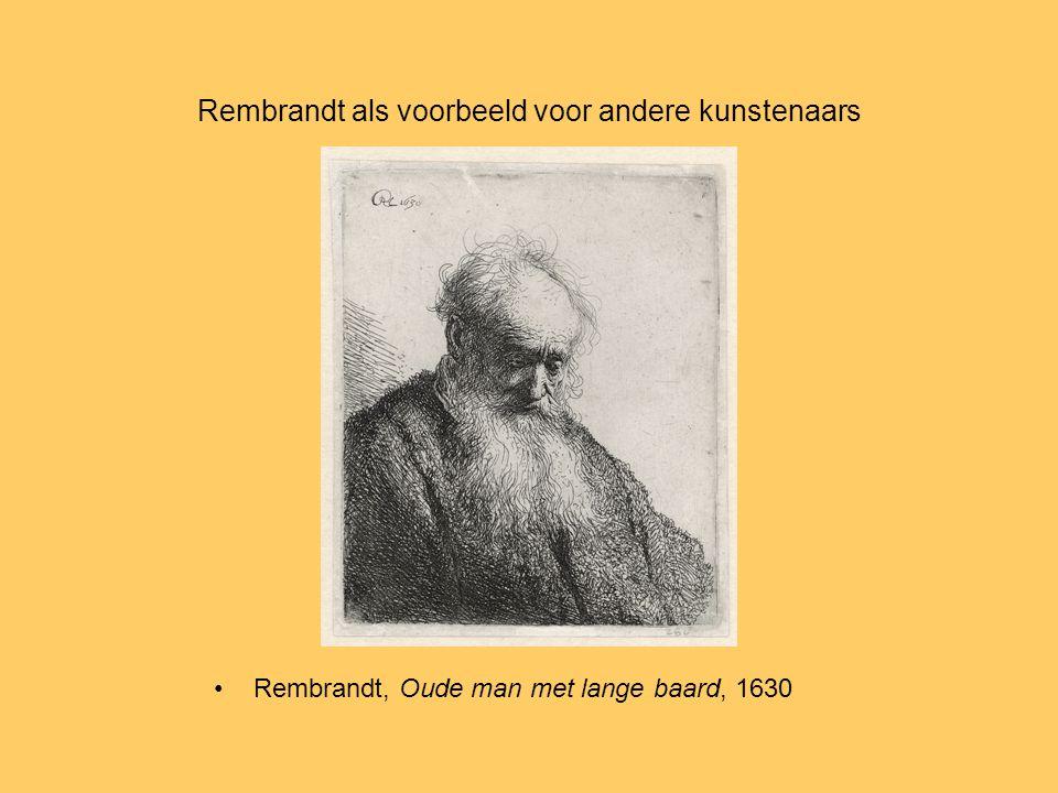 Rembrandt als voorbeeld voor andere kunstenaars Rembrandt, Oude man met lange baard, 1630