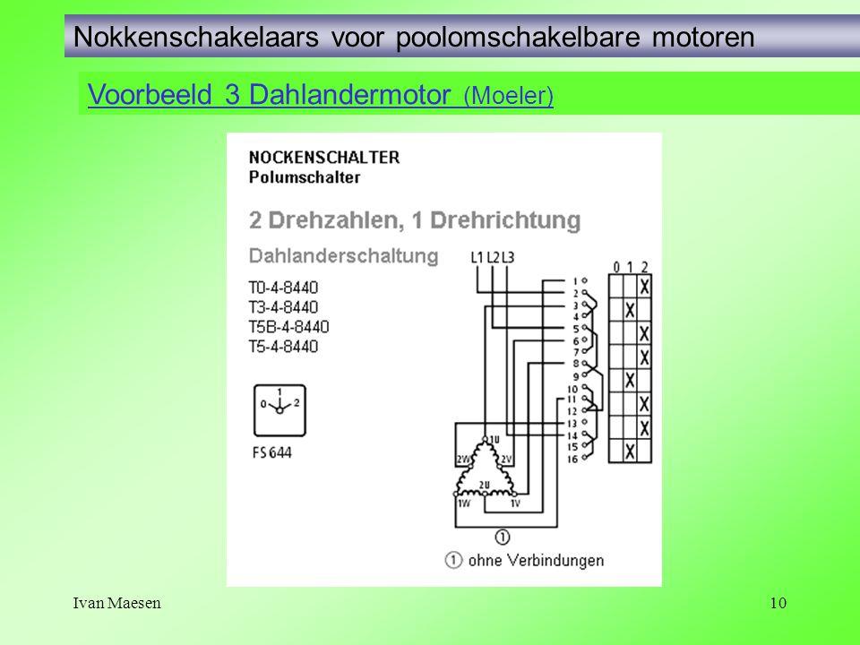 Ivan Maesen10 Voorbeeld 3 Dahlandermotor (Moeler) Nokkenschakelaars voor poolomschakelbare motoren