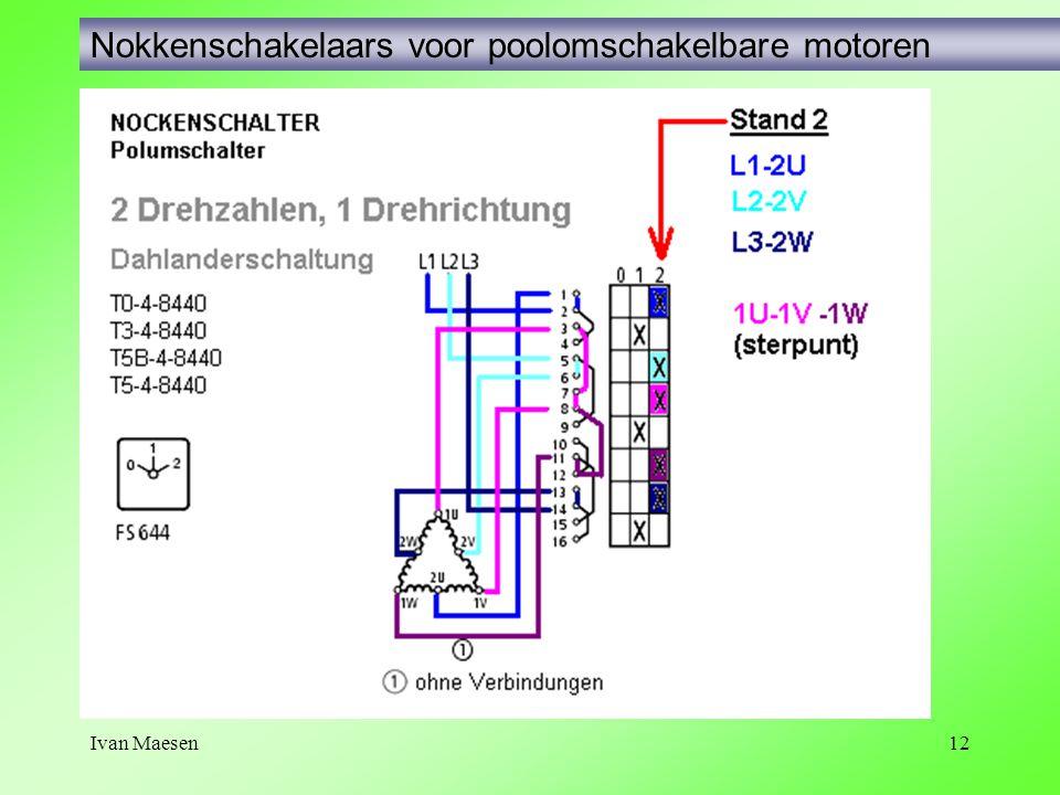Ivan Maesen12 Nokkenschakelaars voor poolomschakelbare motoren