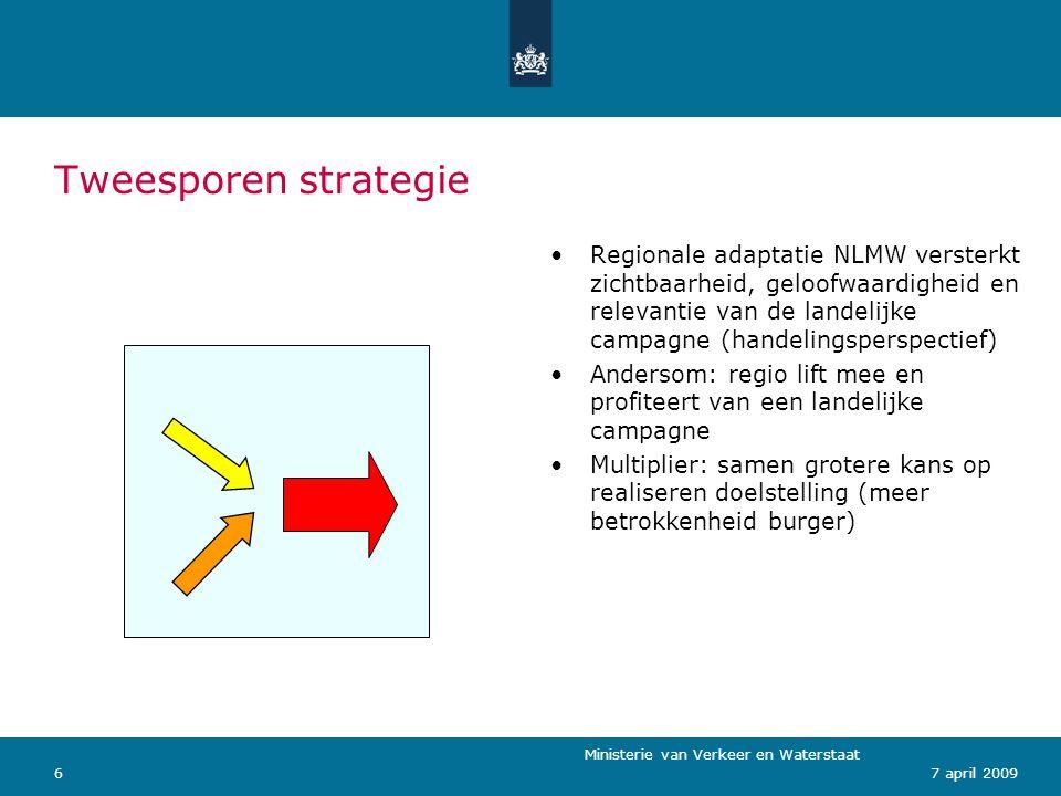 Ministerie van Verkeer en Waterstaat 77 april 2009 Terugblik 2008 Voorjaar: nieuwe concept geïntroduceerd als universeel label voor waterbeleid en -beheer.