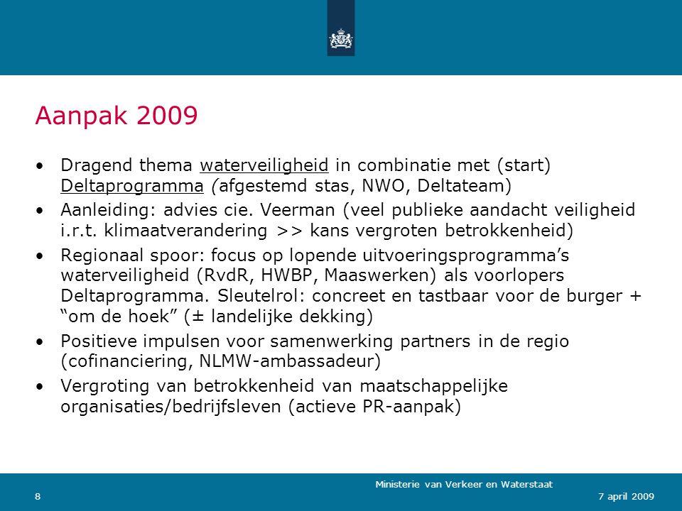 Ministerie van Verkeer en Waterstaat 97 april 2009 Concept: Nederland onder constructie
