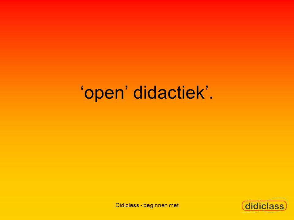 'open' didactiek'.