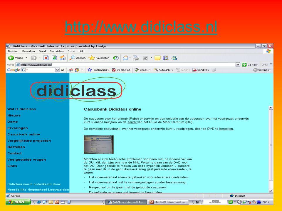 Didiclass - beginnen met http://www.didiclass.nl