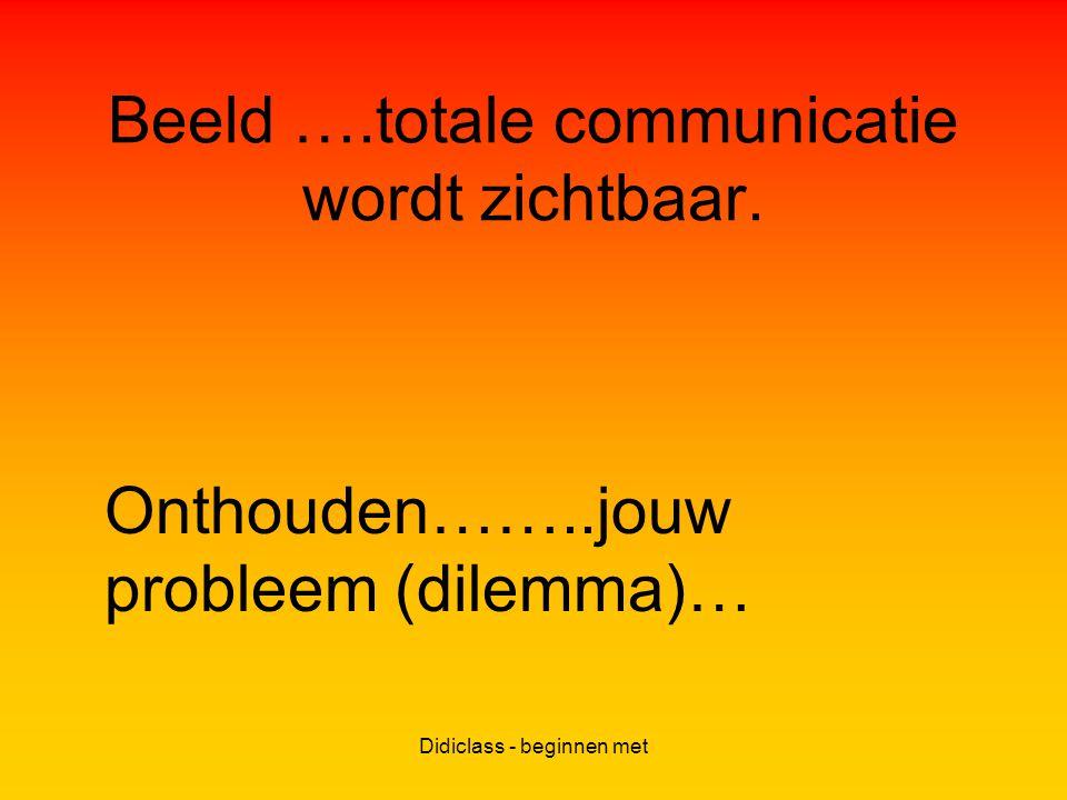 Didiclass - beginnen met Beeld ….totale communicatie wordt zichtbaar.