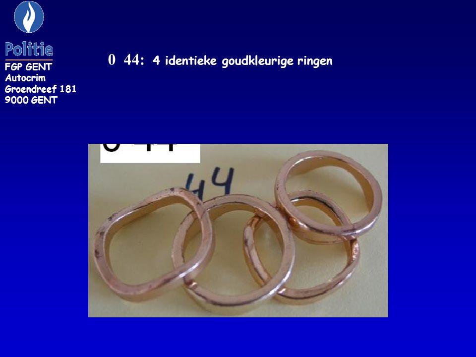 ZR 42/E: geelgouden ring met bloem FGP GENT Autocrim Groendreef 181 9000 GENT