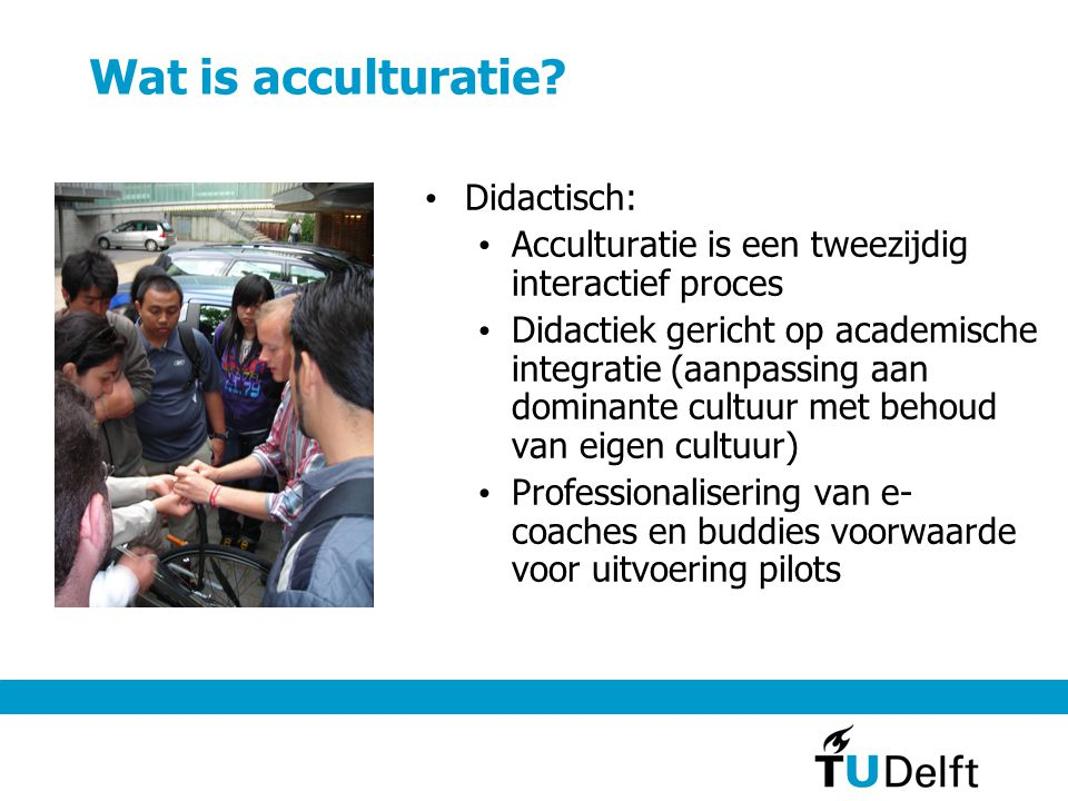 Wat is acculturatie.