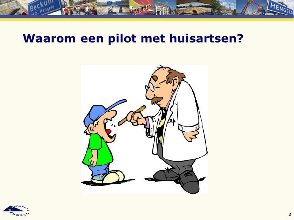 Waarom een pilot met huisartsen? 3