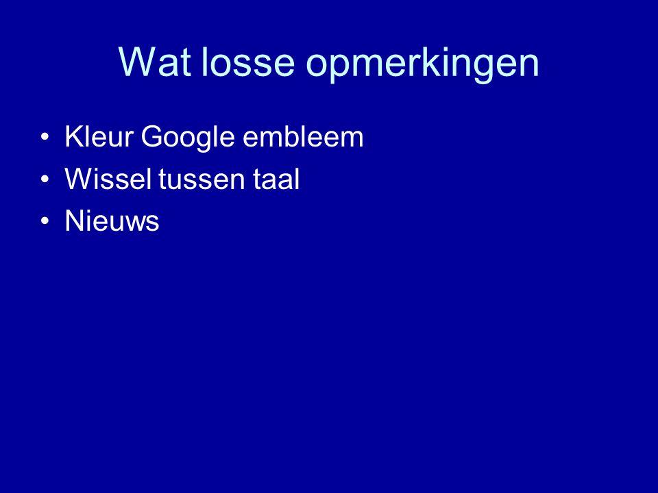 Wat losse opmerkingen Kleur Google embleem Wissel tussen taal Nieuws